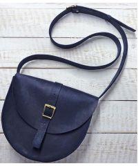 Кожаная сумка B.0002-СН синяя