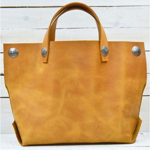 Кожаная сумка B.0004 рыжая