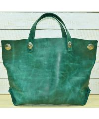 Кожаная сумка-мешок B.0004-ALI зеленая