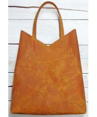 Кожаная сумка-пакет B.0005-CH рыжая