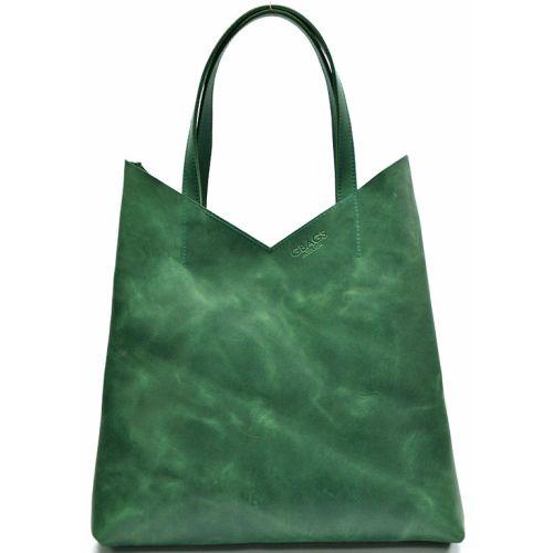 Кожаная сумка B.0005 зеленая