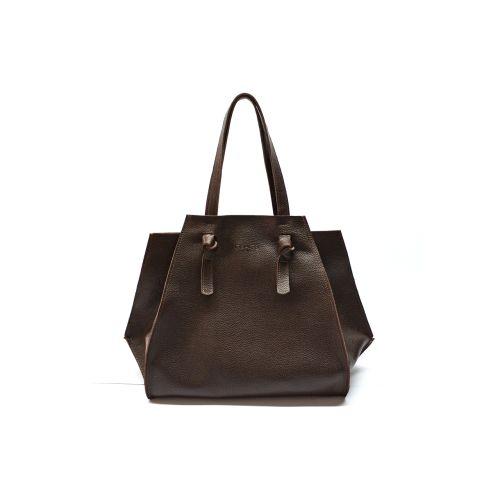 Кожаная сумка B.0007 шоколадная