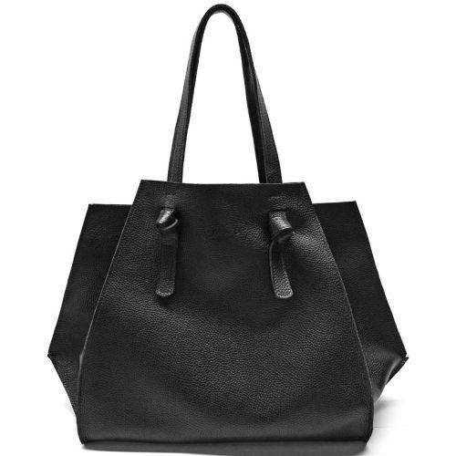 Кожаная сумка B.0007 из черная