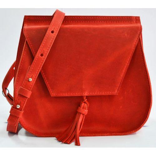Кожаная сумка B.0008-CH красная