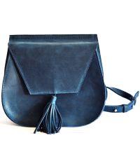 Кожаная сумка B.0008-CH синяя