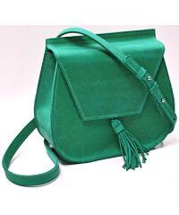Кожаная сумка B.0008 зеленая