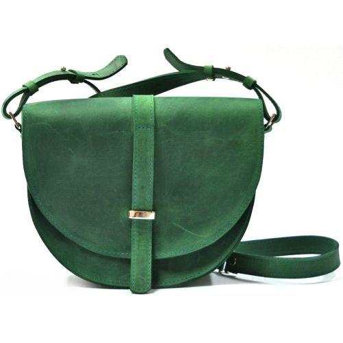 Кожаная сумка B.0010-ALI зеленая