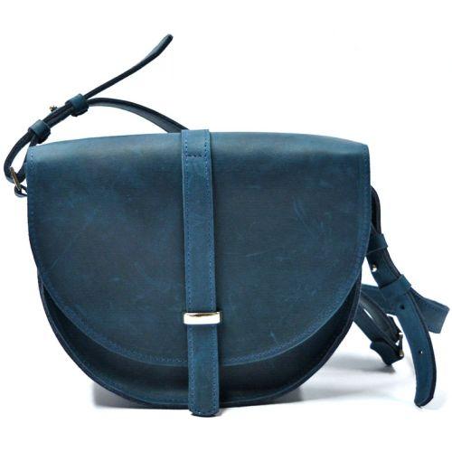Кожаная сумка B.0010-CH синяя