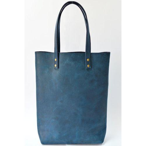Кожаная сумка B.0012 синяя