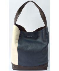 Кожаная сумка-тоут B.0015-5 GBAGS синяя