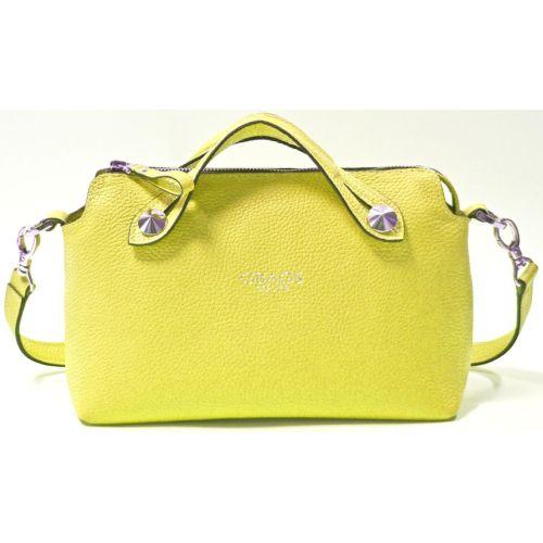Кожаная сумка B.0019 лимонная