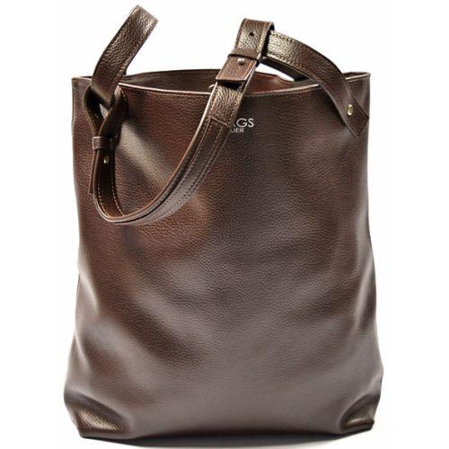 Кожаная сумка GBAGS B.0020-1 коричневая