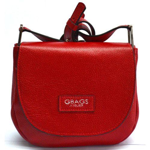 Кожаная сумка B.0021-3 красная