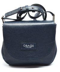 Кожаная сумка B.0021-4 синяя