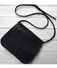 Кожаная сумка B.0001-CH черная