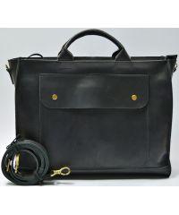 Кожаная сумка B003 черная