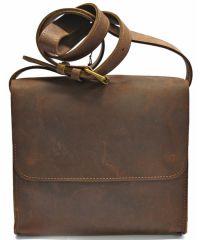 Кожаная сумка B007 коричневая