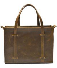 Кожаная сумка B013 коричневая