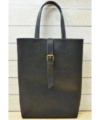 Кожаная сумка Tote B014 черная