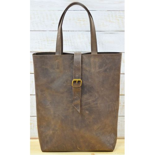 Кожаная сумка B014 коричневая