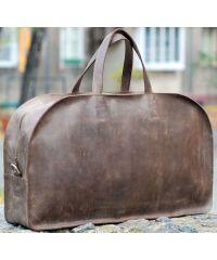 Кожаная дорожная сумка b024 коричневая