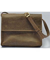 Кожаная сумка b026 коричневая