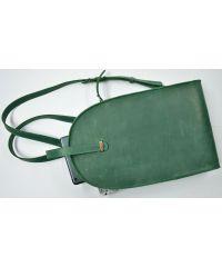 Кожаный рюкзак GBAGS BP.0002 зеленый