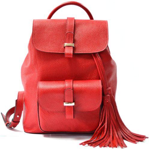 Кожаный рюкзак GBAGS BP.0003 красный