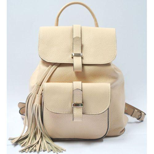 Кожаный рюкзак GBAGS Nude BP.0003 бежевый