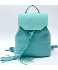 Кожаный рюкзак GBAGS BP.0004 бирюзовый