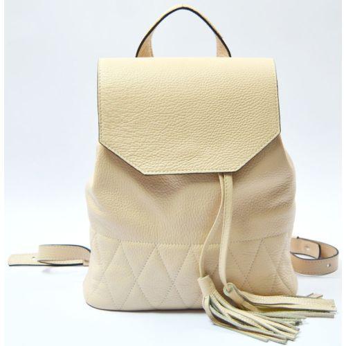 Кожаный рюкзак GBAGS Nude BP.0004 бежевый