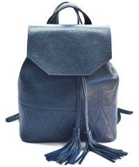 Кожаный рюкзак GBAGS BP.0004 синий