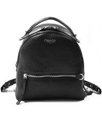 Кожаный рюкзак GBAGS BP.0007 черный