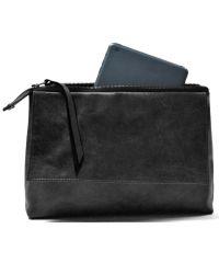Кожаный клатч GBAGS C.0001 черный
