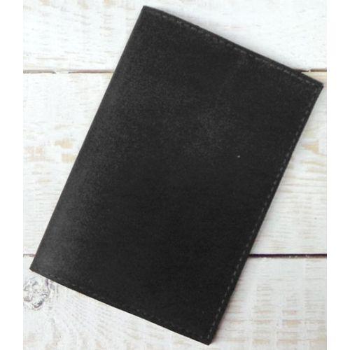 Кожаная обложка для паспорта С003 черная
