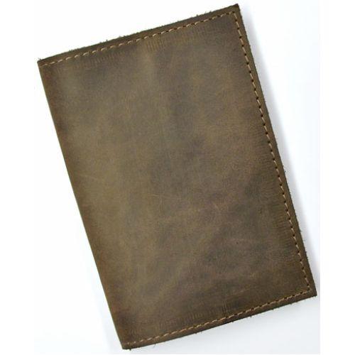 Кожаная обложка для паспорта С003 коричневая