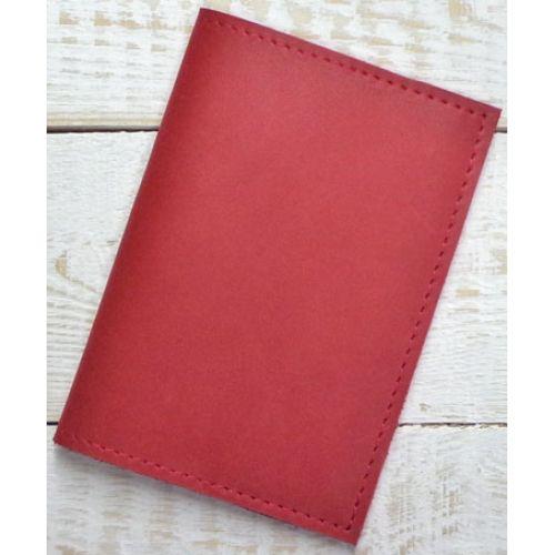 Кожаная обложка для паспорта С003 красная