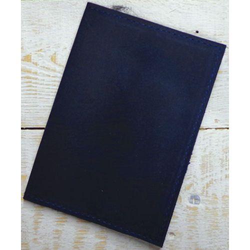 Кожаная обложка для паспорта С003 синяя