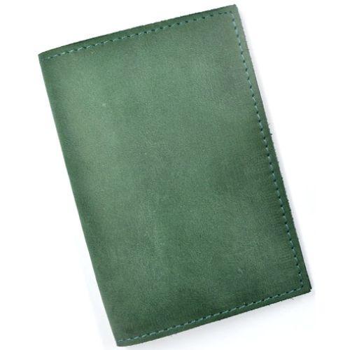 Кожаная обложка для паспорта С003 зеленая