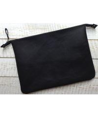 Кожаный клатч конверт C005 черный