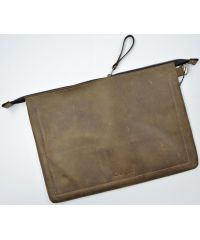 Кожаный клатч конверт C005 коричневый