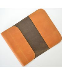 Кожаный чехол для Macbook C007 рыжий