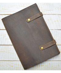Кожаная папка для документов C019 коричневая