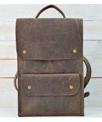 Кожаный рюкзак P002 коричневый
