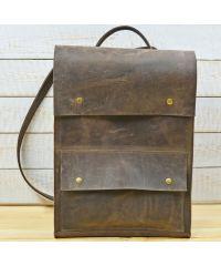 Кожаный рюкзак P004 коричневый
