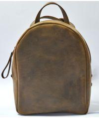 Кожаный рюкзак P013 коричневый