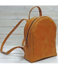 Кожаный рюкзак P013 рыжий