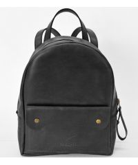 Кожаный рюкзак P013s черный