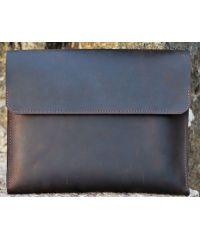 Кожаный клатч-папка C001 коричневый
