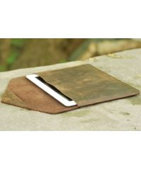 Кожаный чехол iPad С002 коричневый